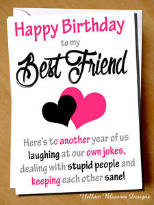 Image Is Loading Birthday Greeting Card BFF Mate Banter Funny Humour
