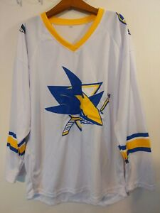 new arrival 46aa1 f24c0 Details about San Jose Sharks Golden State Warriors 2018 SGA Mashup Jersey M