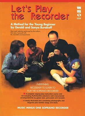 Instruction Books, Cds & Video Wind & Woodwinds Let's Play The Recorder Method For The Young Beginner Music Minus One 000400714 Refreshing And Enriching The Saliva