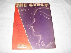 Sheet-Music-vintage-The-Gypsy-Billy-Reid-Lyric-Dinah-Shore-Sammy-Kaye-Jan-Garber