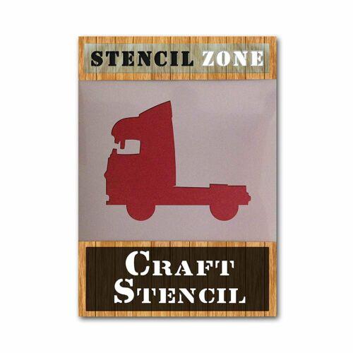 Truck Camion Forme airrush Peinture Murale Pochoir