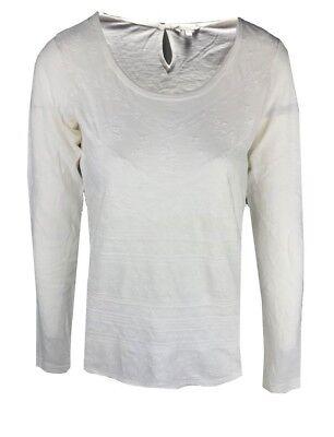W4.4 Ex M*S Drop Hem Striped Long Sleeve Shirt Size 8-24