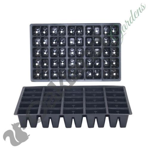100 X 5 CELLULES Bac à Graines insère Full Size Plug plateaux Literie Plante Pack