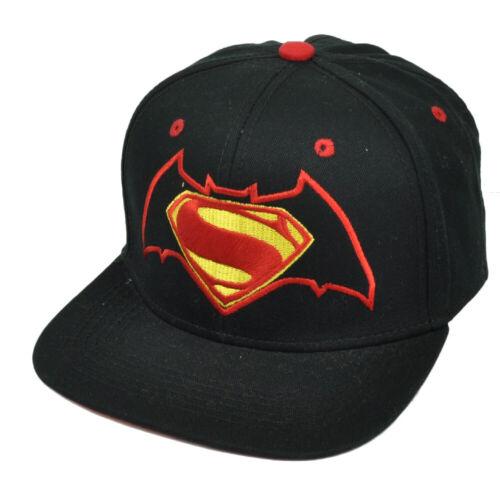 DC Comics Superman Vs Batman Dawn of Justice Black Snapback Hat Cap Super Hero
