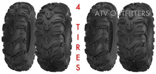 "HONDA ATV TIRE SET FOREMAN 450 500 RUBICON RINCON 650 680 ALL 4 TIRES 25/"" SET"