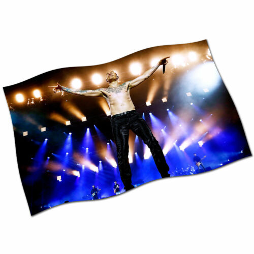 Chester Bennington Flag Banner NEW Linkin Park Numb Live Fabric Poster