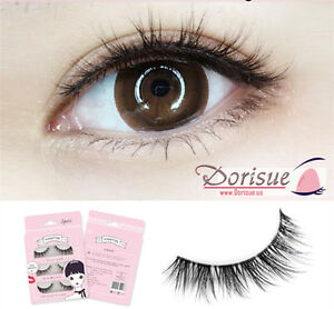 076f5e882ea Details about 3D Real Looking 3 Pairs Double Beauty Classic False Lashes  Med volume lengthen