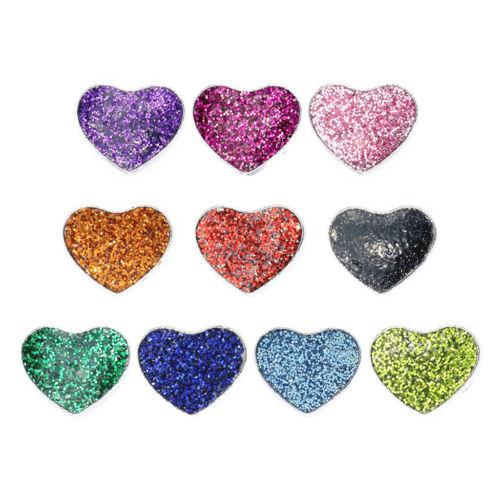 10PCS Vente en Gros 8 mm Slider couleur Heart Slide Charms fit pour 8 mm Ceinture//Pet Collar