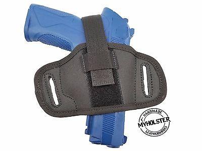 Leather /&  Nylon Thumb Break Pancake Belt Holster Fits GLOCK 27 Akar