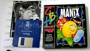 Manix-GBH-Gold-1991-Atari-ST-Game-Slim-Box-GC-amp-Complete-lt-MQ-gt