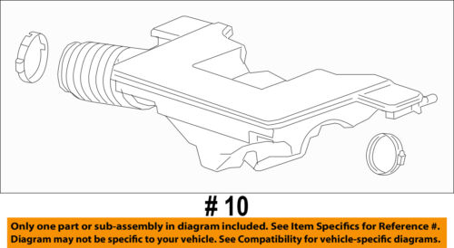 GM OEM Air Cleaner-to Intake Tube Duct Hose 22738661