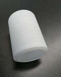 VERRE ABAT-JOUR DE RECHANGE Cylindre Blanc Mat avec rayures ...