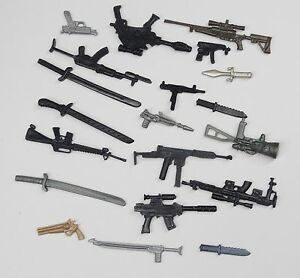 random-lot-20-GI-Joe-Cobra-3-75-034-figure-039-s-Accessories-Guns-sword-Weapons-G5