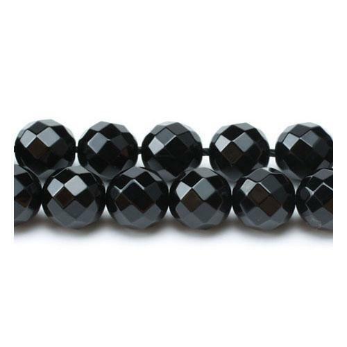 Onyx Facetado Redondo Cuentas 8mm Negro 45 piezas Piedras Preciosas bricolaje artesanías de fabricación de joyas