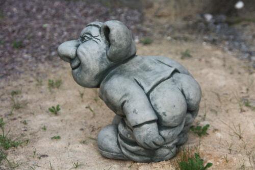 Troll con pantaloni giù lo Gnomo nano da steinguß per giardino gelo fisso NUOVO de-577