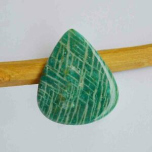 Natural-Amazonite-Gemstone-Cabochon-47-5-Cts-Pear-Shape-Craft-Supplies-R26920