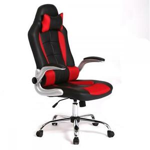 Image is loading High-Back-Racing-Office-Chair-Recliner-Desk-Computer-  sc 1 st  eBay & High Back Racing Office Chair Recliner Desk Computer Chair Gaming ... islam-shia.org
