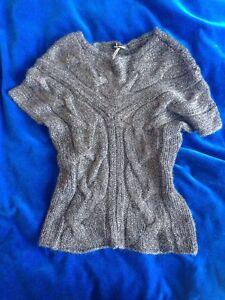 Luisa Grigio Glitter Top argento Cerano Luxury Sweater Knit Nwt Knit 40 De38 rUrpFqz6y