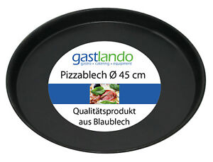 10 Stück Pizzaform Backen Pizzablech Ofenform Backblech rund Ø 45 cm Gastlando