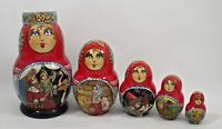5p Collectible Russian Nesting Doll 3472 Russian Fairy Tale