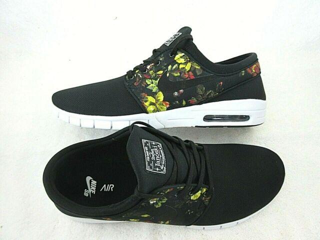 a3eae53cf1 Nike Mens Stefan Janoski Max Black Floral Mesh Skate Shoes Size 13 631303  029