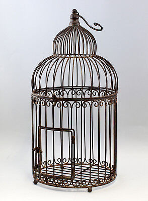 Antiques Clever 9977529 Metal Bird Cage Vintage Brown Rustic Relieving Heat And Thirst. Other Architectural Antiques