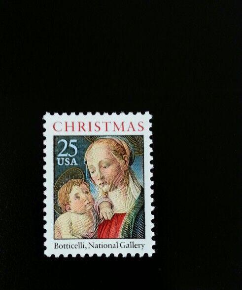 1988 25c Madonna & Child, Botticelli, National Gallery
