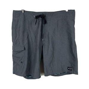 Oakley-Mens-Swim-Shorts-Size-36-Grey-Board-Shorts-Good-Condition