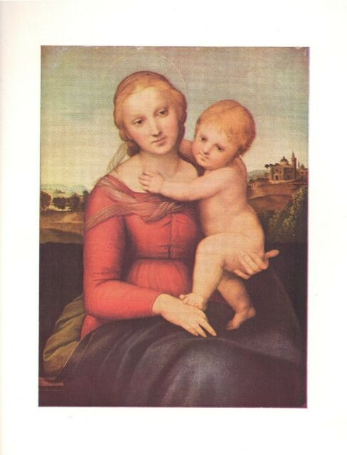 """Small Cowper Madonna""  by Raphael  Art Print 1960  Free Shipping"