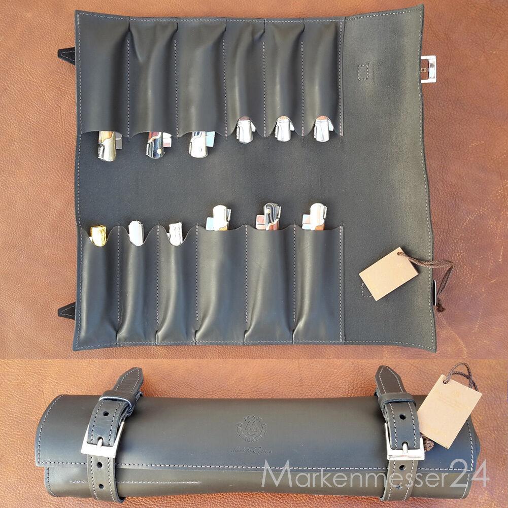 Hochwertige Leder Sammelmappe für 12 12 12 Taschenmesser von Max Capdebarthes schwarz 9f811c