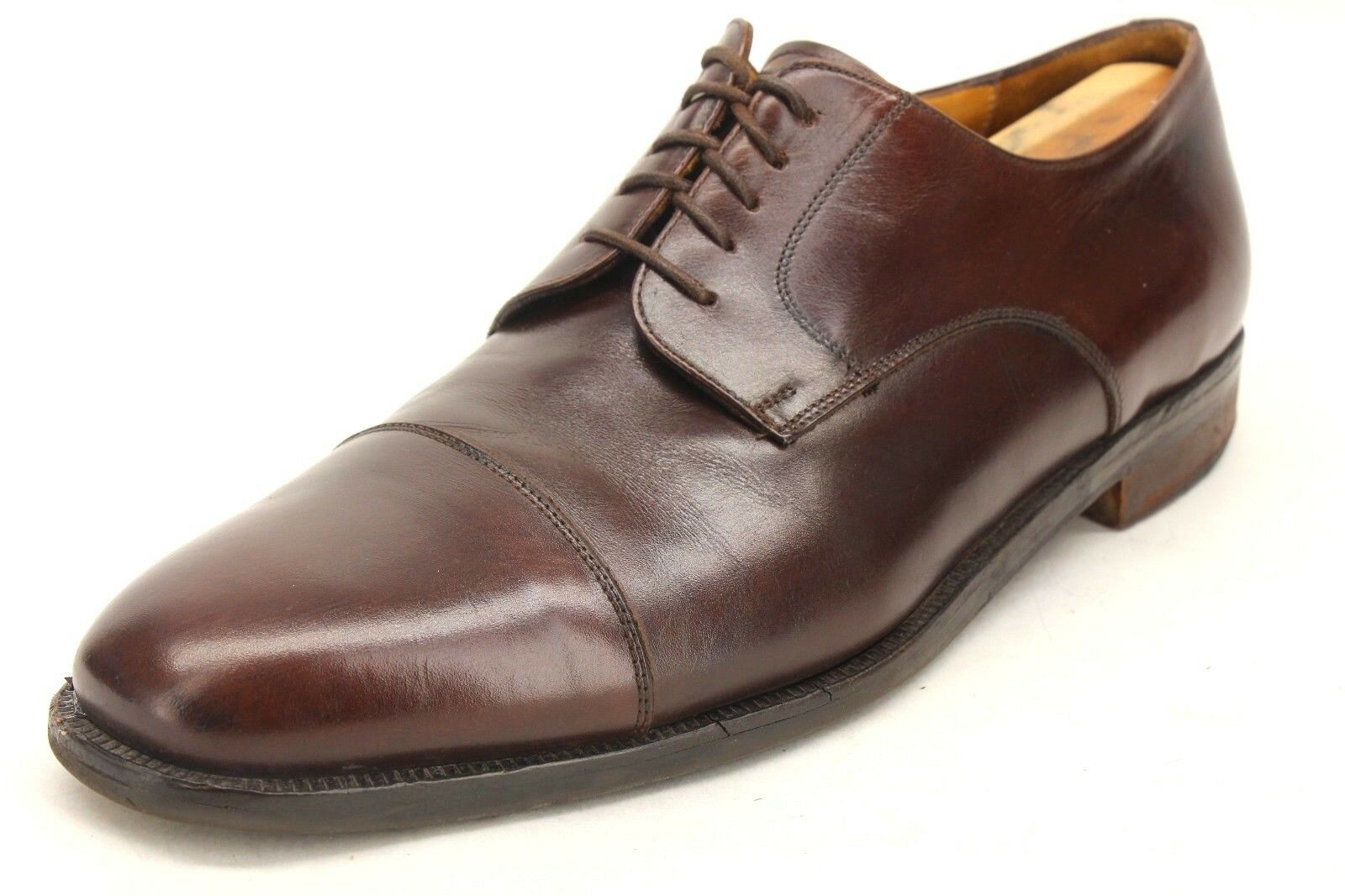 25d463a783d Johnston   Murphy Cellini Brown Brown Brown Leather Derby Style Cap Toe  Oxfords Size 11.5 M ab5959