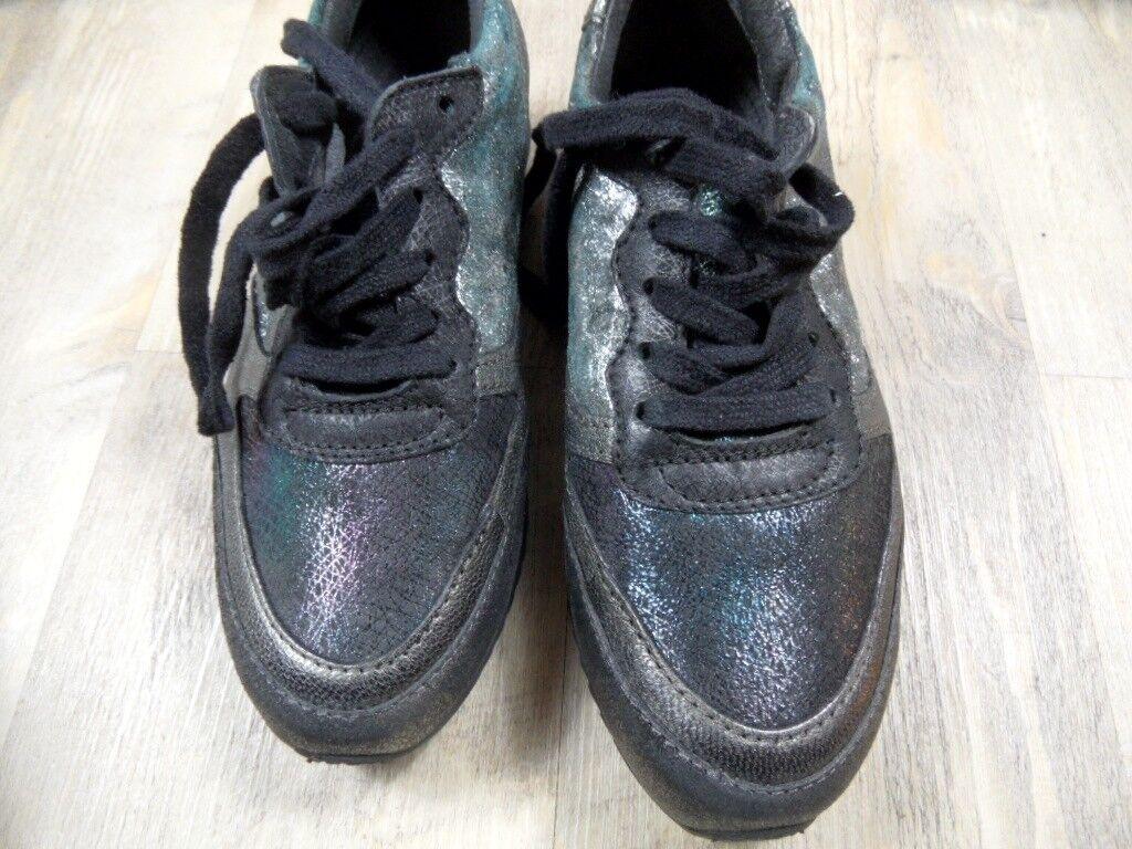MJUS stylische Glitzer 37 Sneakers grau bunt Gr. 37 Glitzer NEU ZC1217 c55df2