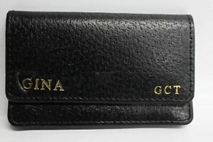 ASPINAL-OF-LONDON-Black-Leather-Credit-Card-Holder-Wallet-Initials-GCT-NEW