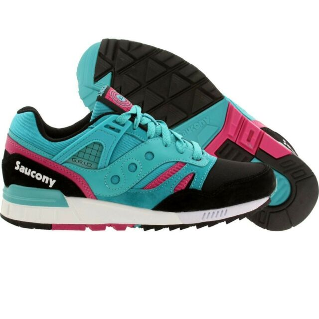 Saucony Grid SD Premium Teal Black Pink | Shoestastic
