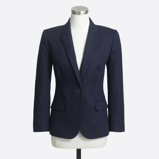 J Crew Cotton Suit Blazer, Navy, Size 2, Brand New w Tags