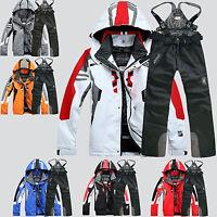 Men's Winter Sports Waterproof Windproof Coat Pants Ski Suit Jacket Snowboard