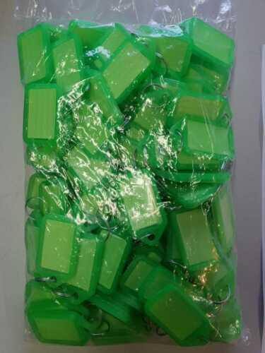 100 Schlüsselschilder grün zum beschriften,Kofferanhänger