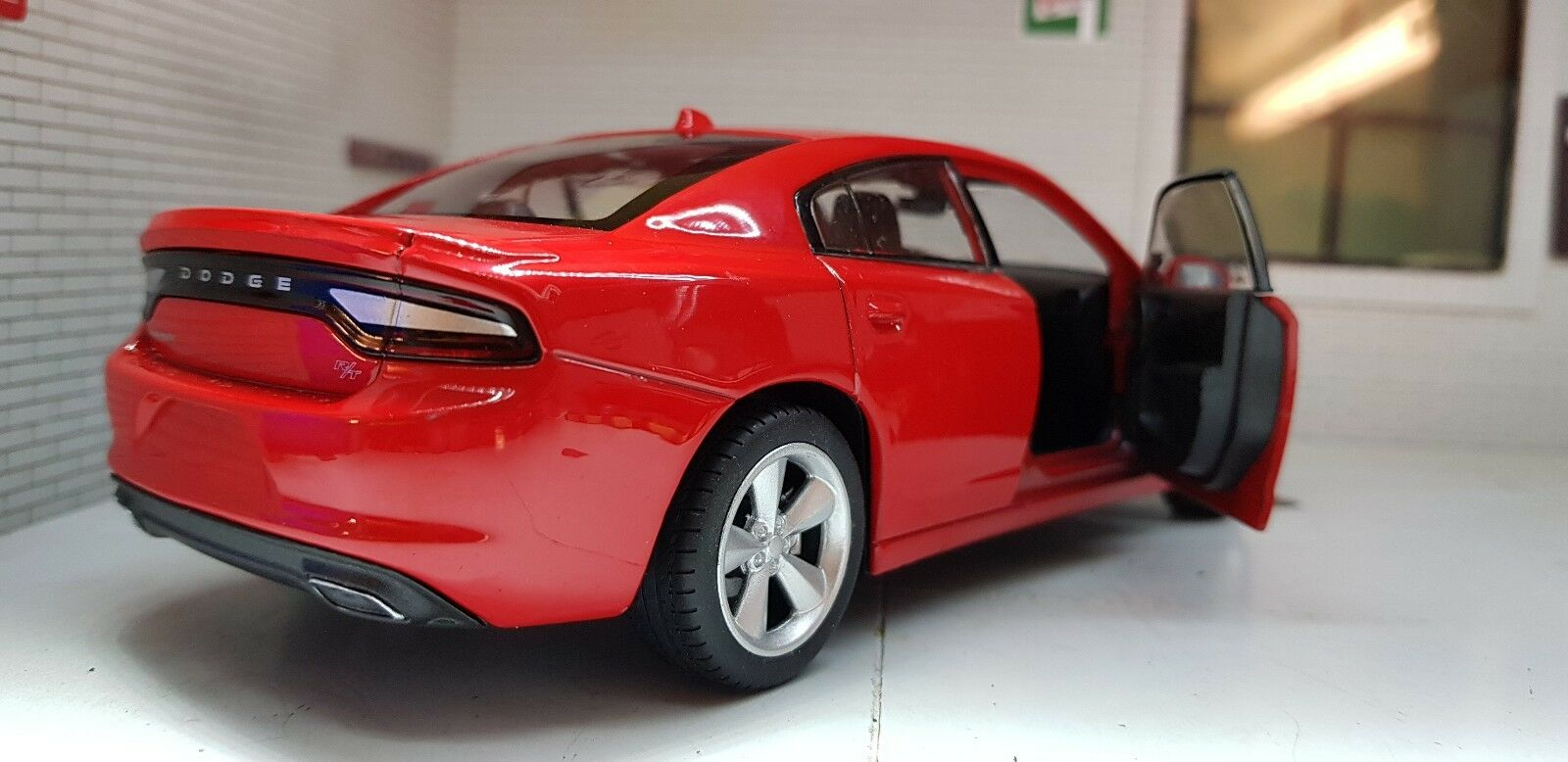 LGB G 1 24 Scale Red Dodge Charger Charger Charger V8 R T 2016 Welly Detailed Diecast Model Car c2e275