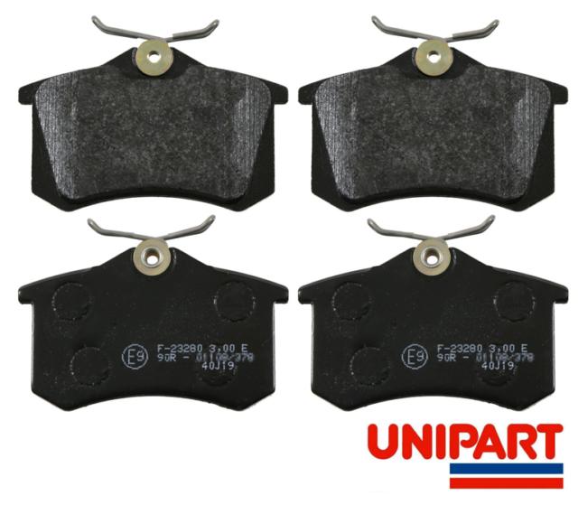 For Skoda - Rapid/Spaceback 2012-On / Yeti 2009-2017 Rear Brake Pads Set Unipart