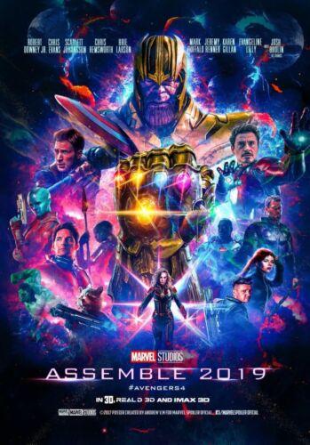 "Avengers 4 End Game Movie Poster 12x18/"" 13x20/"" 18x24/"" 2019 Marvel Film Print"