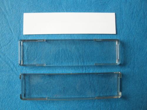 Klingeltasterabdeckung mit Einlage 57,2 x 14,4 mm
