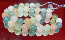 "NATURAL BERYL BLUE TEAL GREEN AQUAMARINE PINK MORGANITE BEADS 12mm 16"" STRAND"