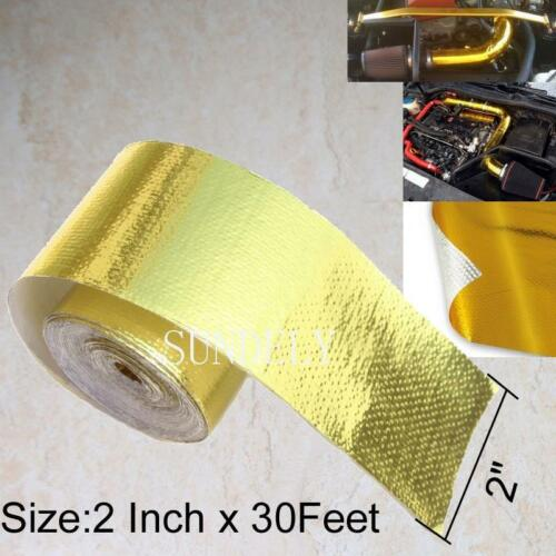 "2/"" x 30ft uk Brand New Gold Heat Defence Reflective Tape"