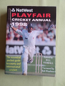 PLAYFAIR-CRICKET-ANNUAL-EDITED-BY-BILL-FRINDALL-1998-PAPERBACK
