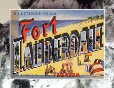 "#50 GREETINGS FROM FORT LAUDERDALE Florida Travel FRIDGE MAGNET 2.5""x3.5"""