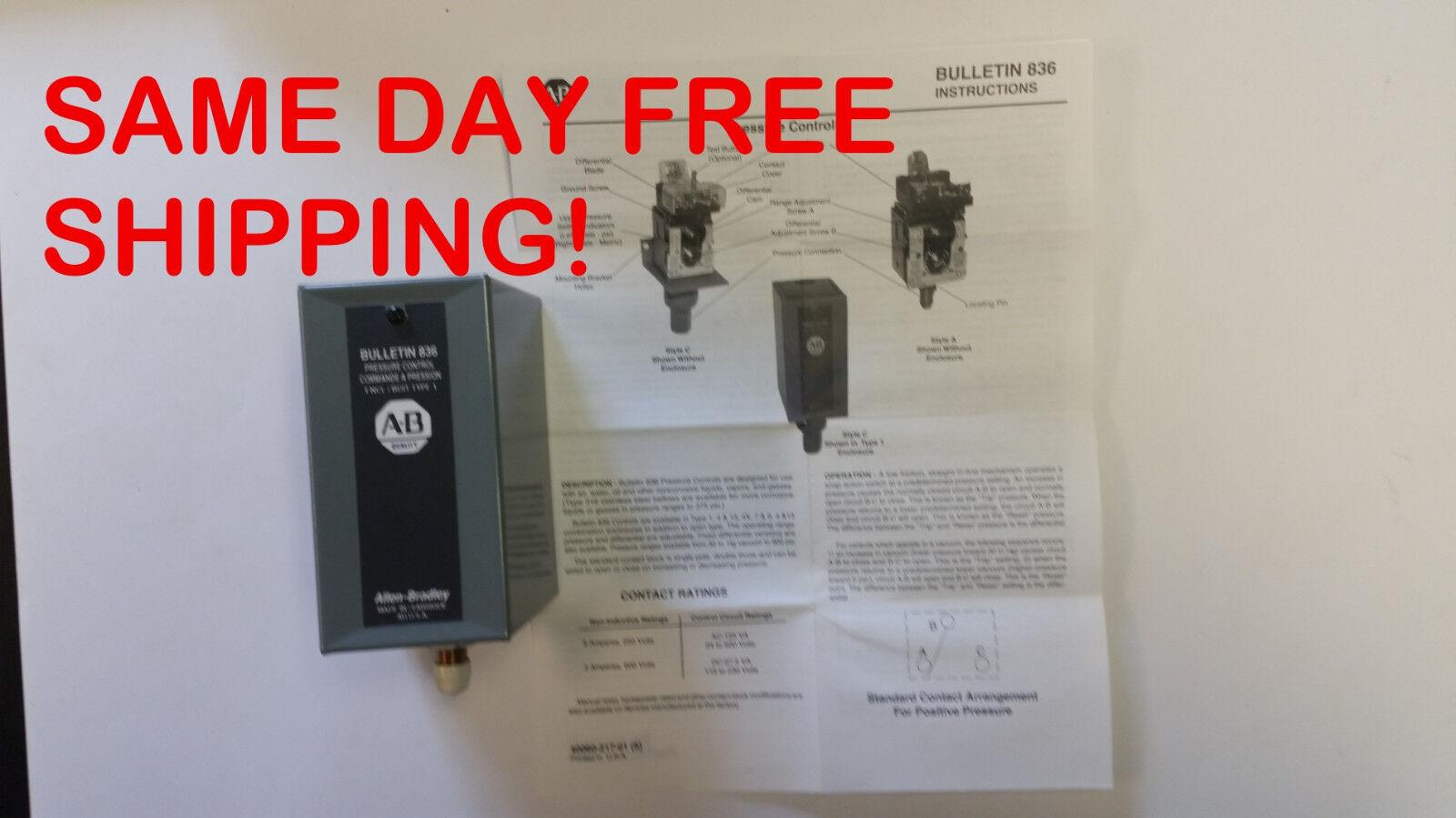 BULLETIN 836 836-A1A 15PSI PRESSURE CONTROL ITEM
