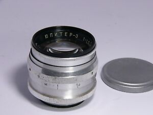 Details about Jupiter-3 1 5/50mm #6401331 lens M39-mount Old stock Russian  Zeiss Sonnar