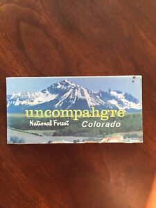 Details about 1976 Uncompahgre National Forest Map, Colorado, US Dept. Of  Ag. Forest Service