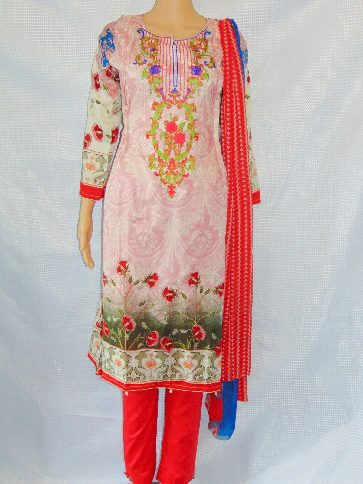 Salwar Kameez Pink Indian Pakistani Suit Shalwar Dress Readymade Eid Lawn