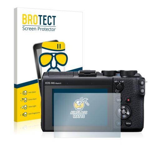 Antirreflejo Protector de pantalla para Canon EOS M6 Mark protección de película de vidrio mate II